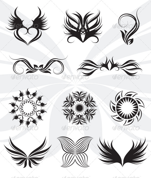 GraphicRiver Tribal Set 4352133