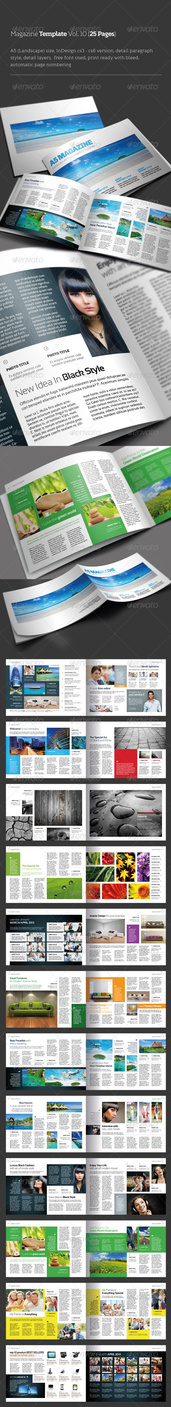 GraphicRiver InDesign Magazine Template Vol 10 25 pages 4353021