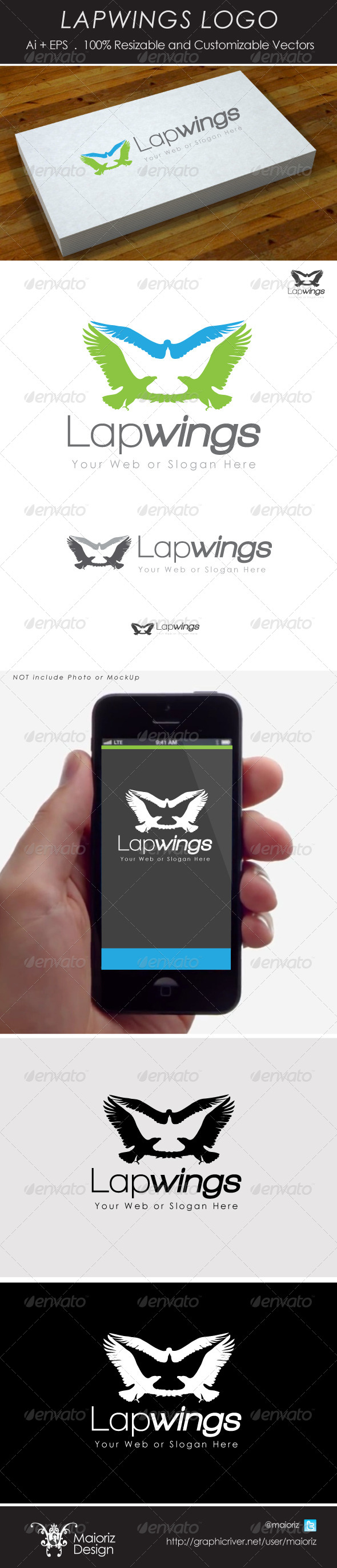 GraphicRiver Lapwings Logo 4271971