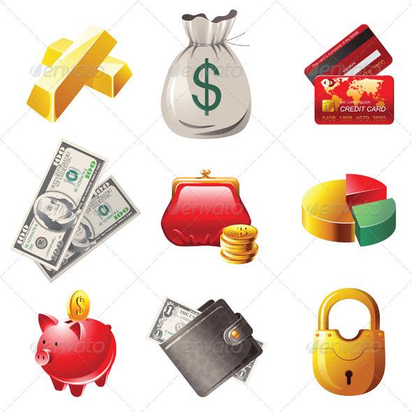 GraphicRiver Money Icons 4353130