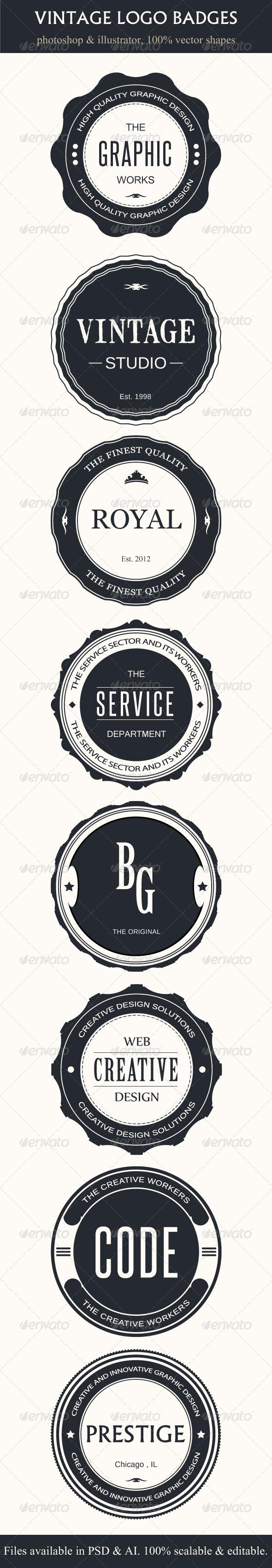 GraphicRiver Vintage Logo Badges 4353203