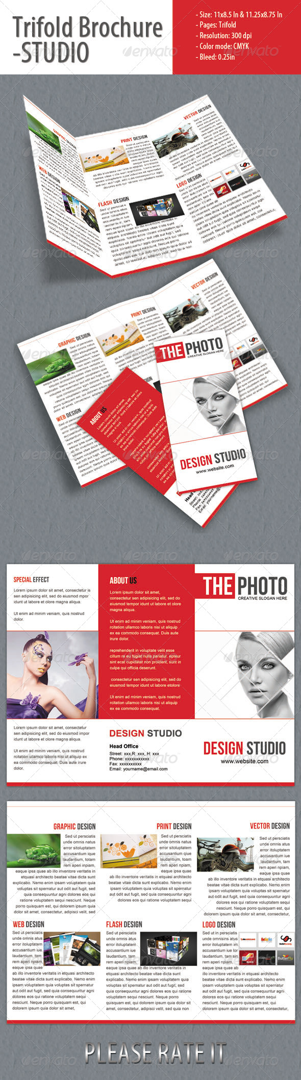 GraphicRiver Trifold Brochure for Studio 4353410
