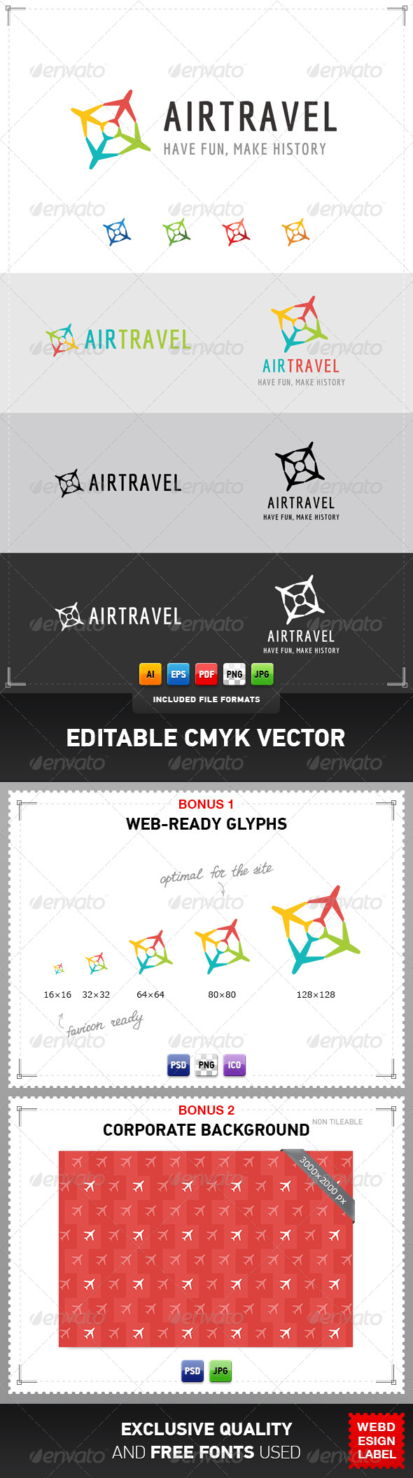 GraphicRiver Air Travel Logo 4272124