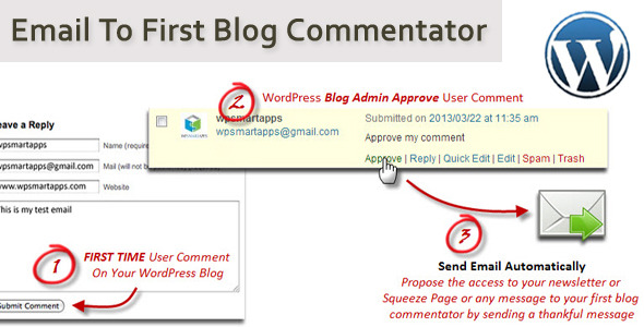 Email To First Blog Commentator - CodeCanyon Item for Sale
