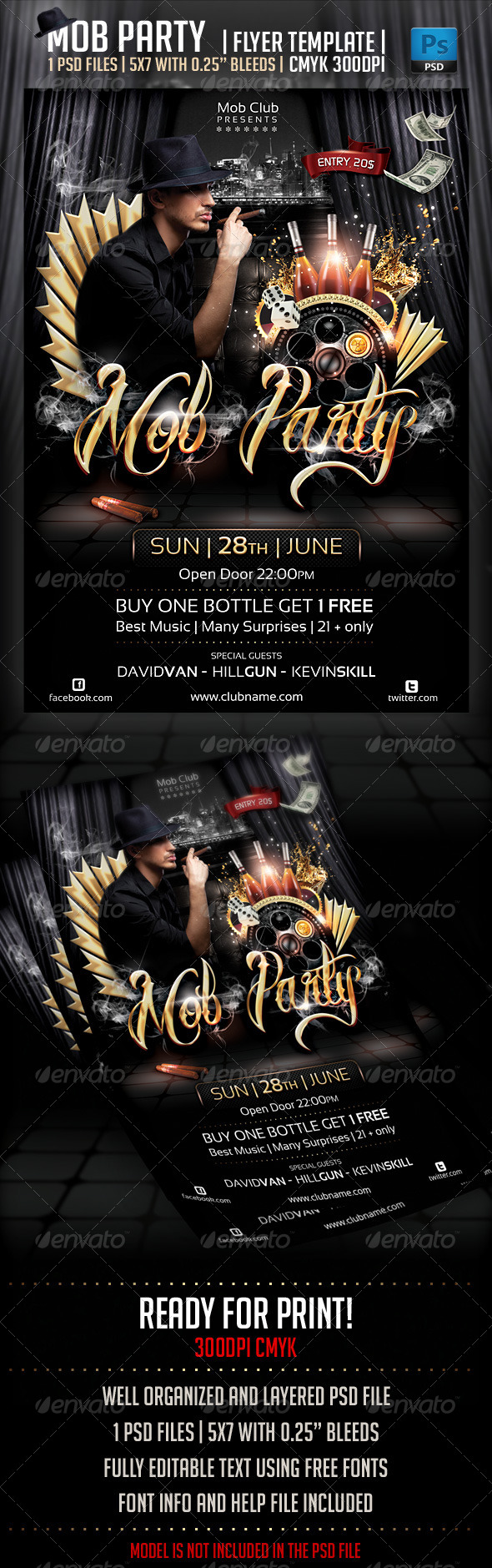 GraphicRiver Mob Party Flyer Template 4353783