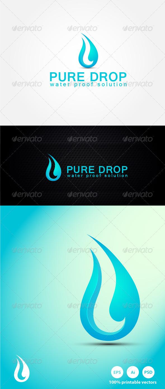 GraphicRiver Pure Drop Logo 4354239