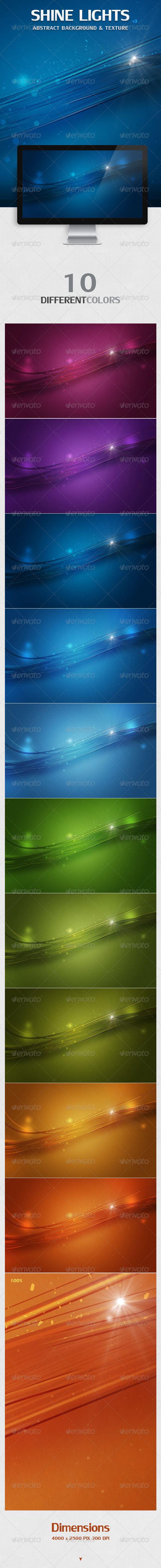 GraphicRiver Shine Lights Abstract Backgrounds & Texture 4354248