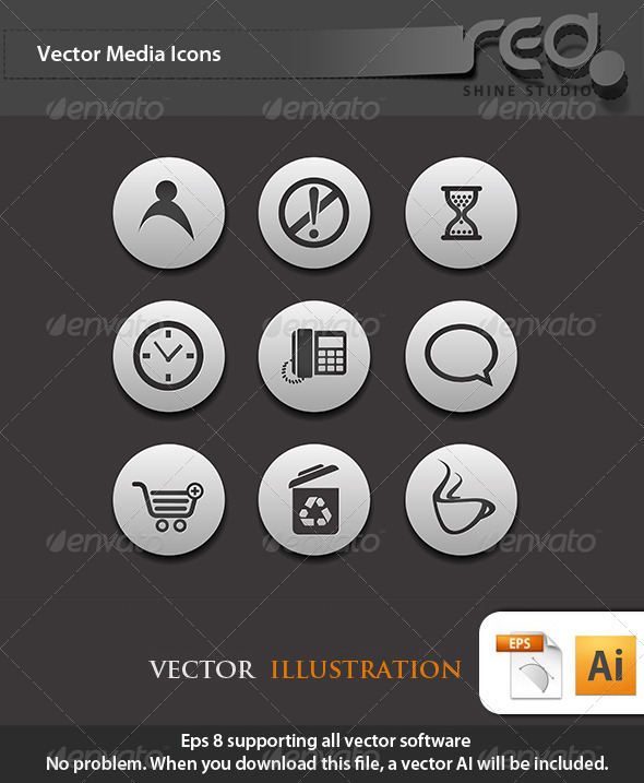 Office Business Icons Vector Pack 3 - Web Elements Vectors