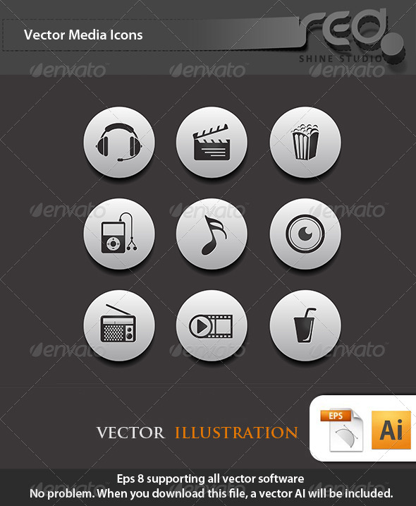 Media Icon Vector Pack 2