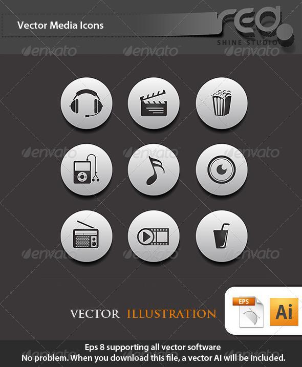 GraphicRiver Media Icon Vector Pack 2 4354414