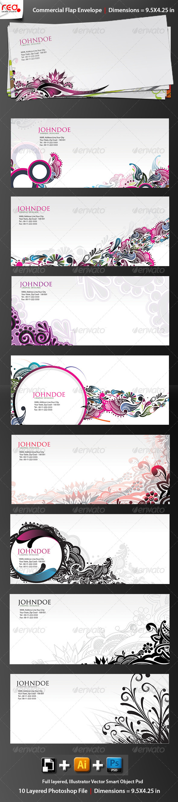 GraphicRiver Print Ready Commercial Bussiness Envelope 2 4354422