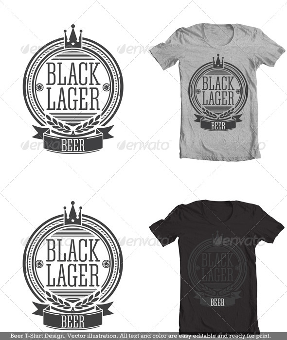 GraphicRiver Beer Tees Design 4321758
