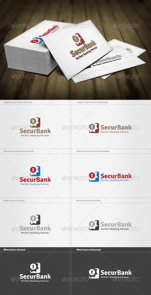 GraphicRiver Security Bank Logo 4355097