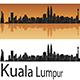 Kuala Lumpur Skyline in Orange Background