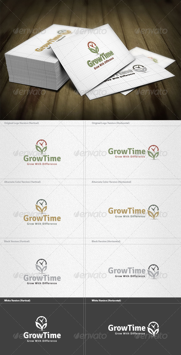 GraphicRiver Grow Time Logo 4355570