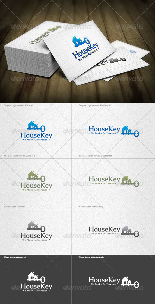 GraphicRiver House Key Logo 4355635