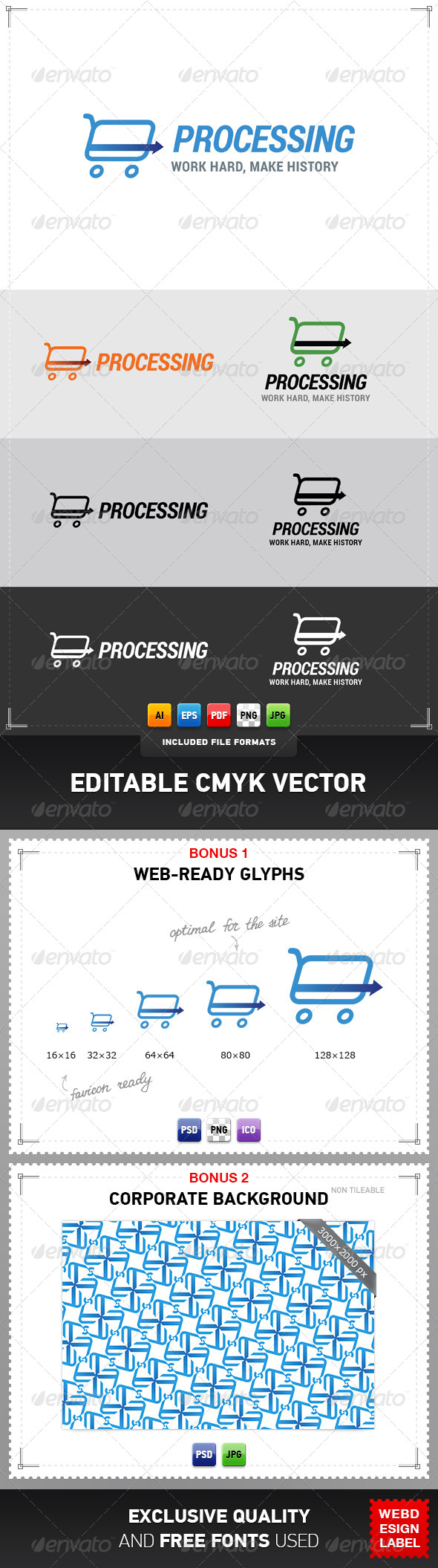 GraphicRiver Card Processing Logo 4355765