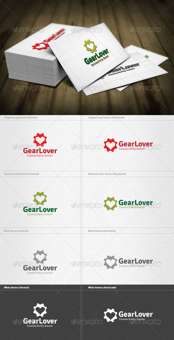 GraphicRiver Gear Lover Logo 4355778