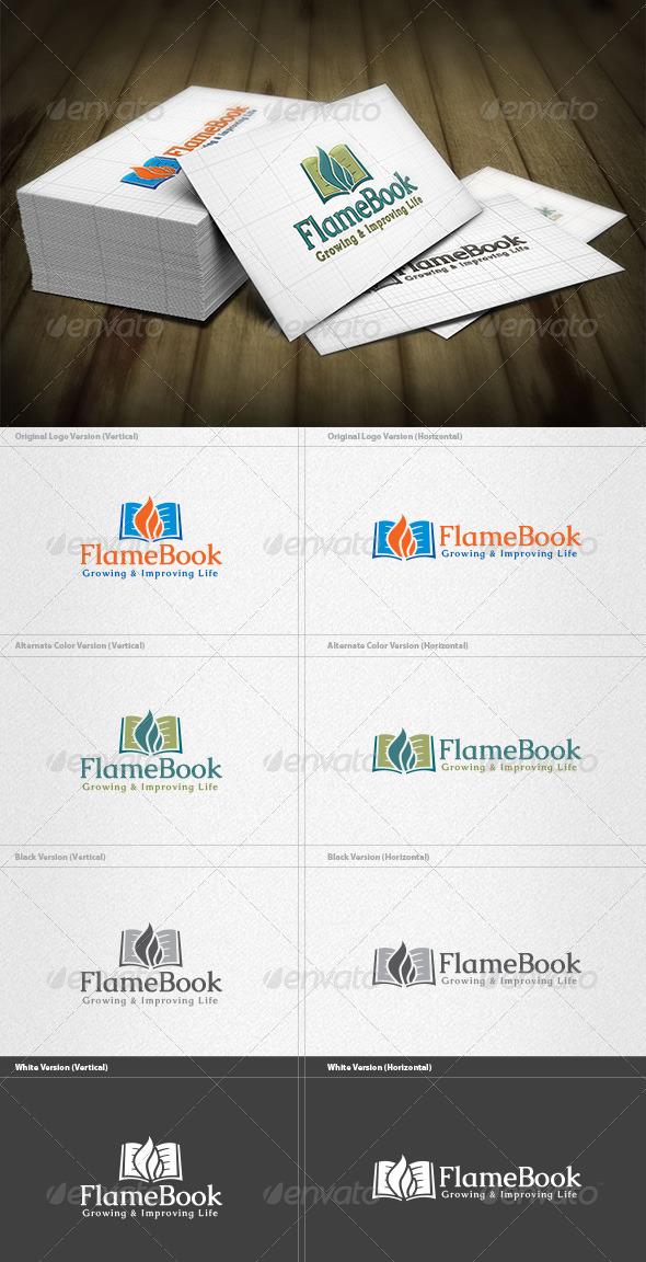 GraphicRiver Flame Book Logo 4355937