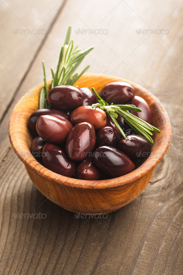 Olives calamata - Stock Photo - Images