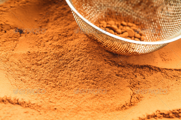 chocolate powder - Stock Photo - Images
