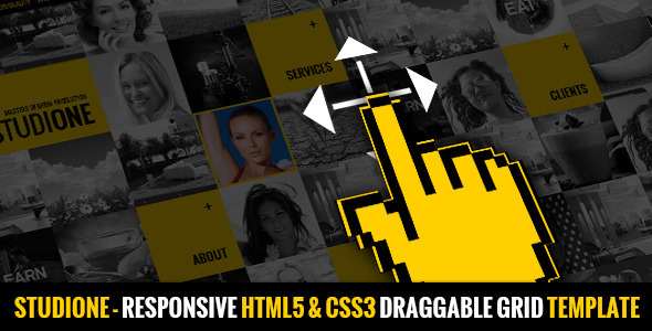 ThemeForest StudiOne Responsive Draggable Portfolio Grid 4280976