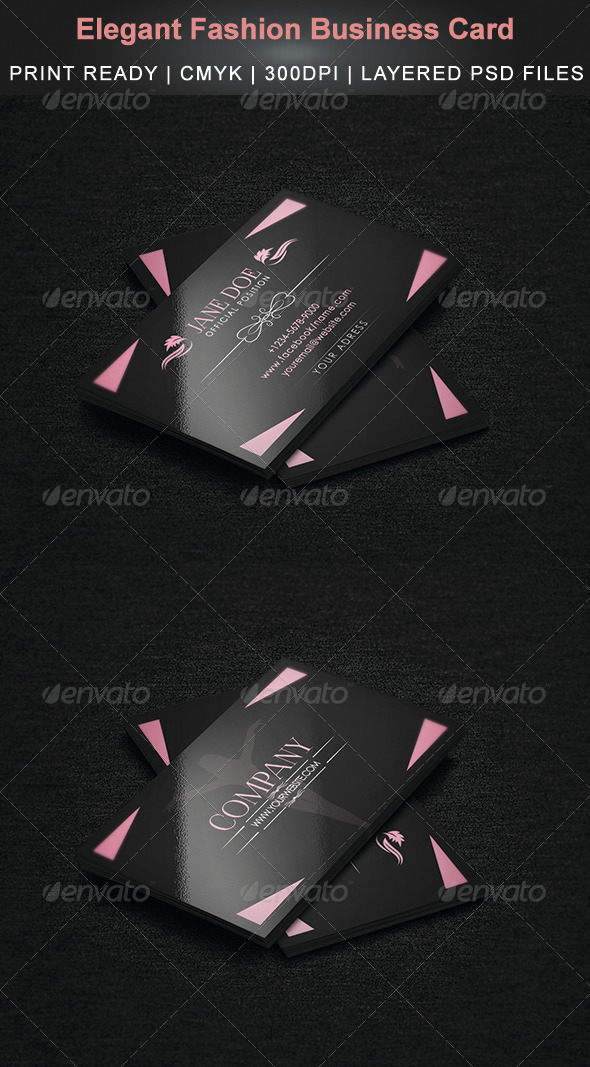 GraphicRiver Elegant Fashion Business Card 3902781