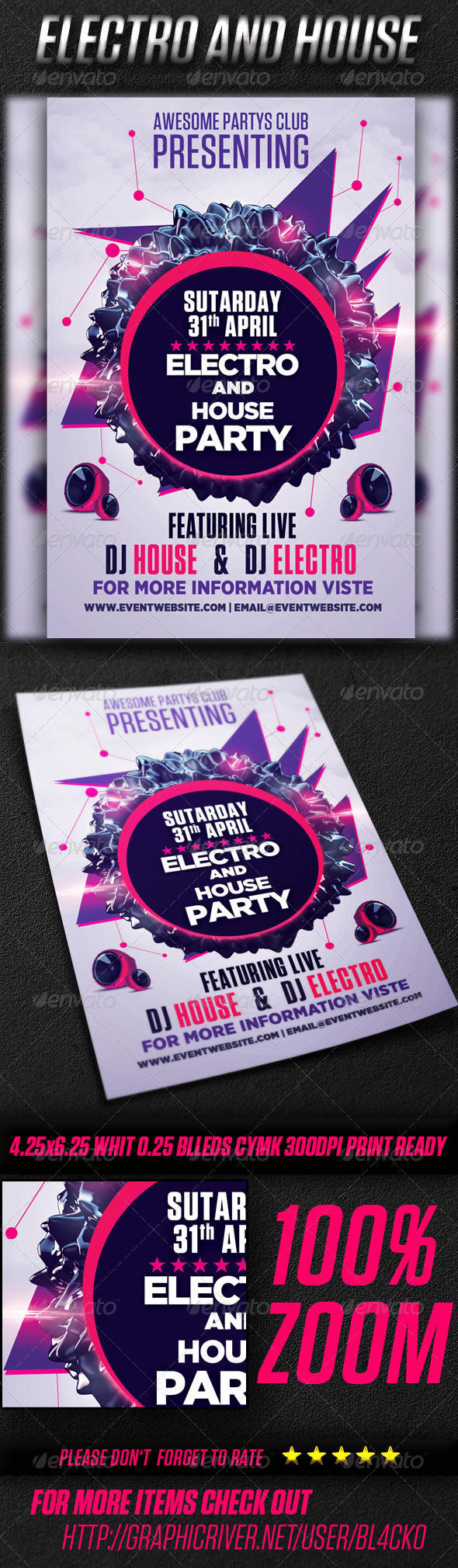 GraphicRiver Electro And House Party Vol2 4356238