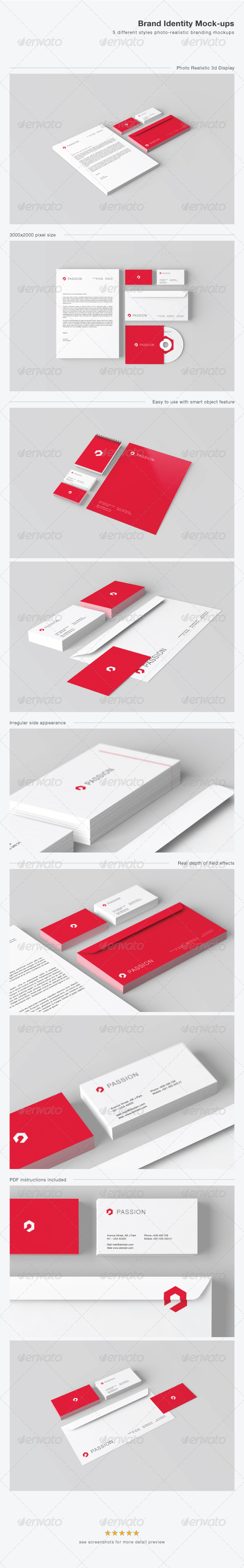 GraphicRiver Stationery Brand Identity Mock-ups 4356495