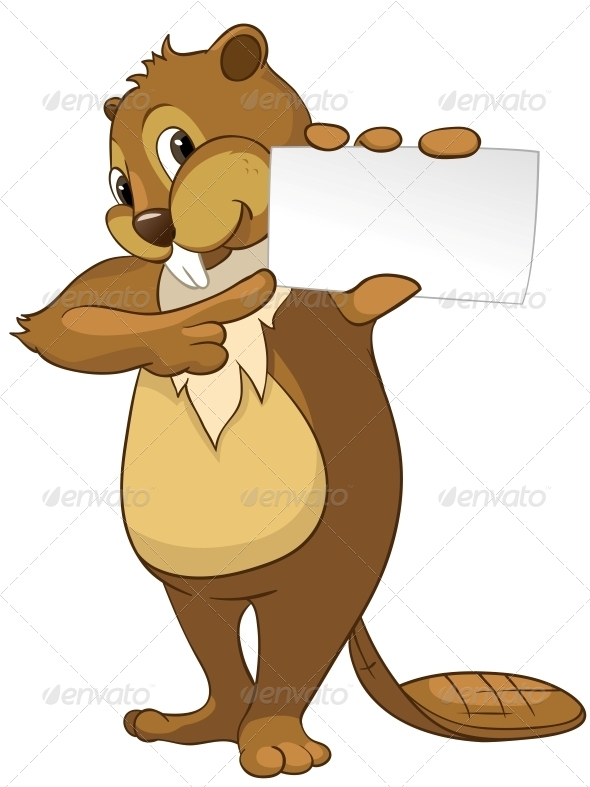 GraphicRiver Cartoon Character Beaver 4356810