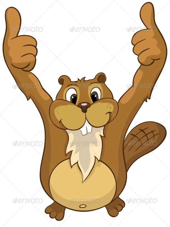 GraphicRiver Cartoon Character Beaver 4356816