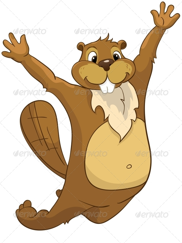 GraphicRiver Cartoon Character Beaver 4356819