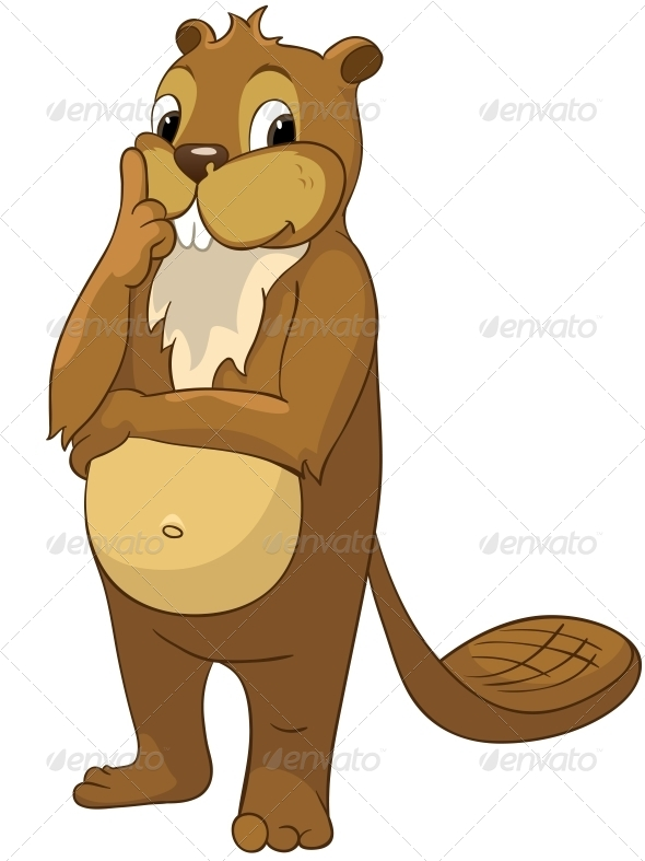 GraphicRiver Cartoon Character Beaver 4356820