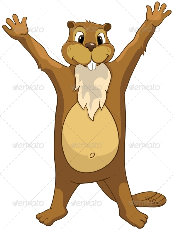 GraphicRiver Cartoon Character Beaver 4356824