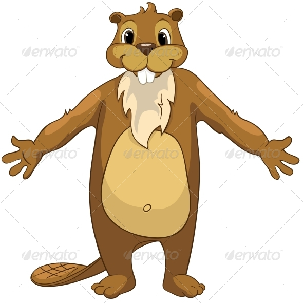 GraphicRiver Cartoon Character Beaver 4356826