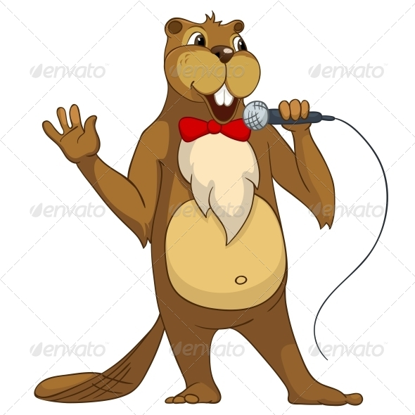 GraphicRiver Cartoon Character Beaver 4356832