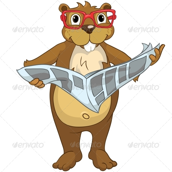 GraphicRiver Cartoon Character Beaver 4356835