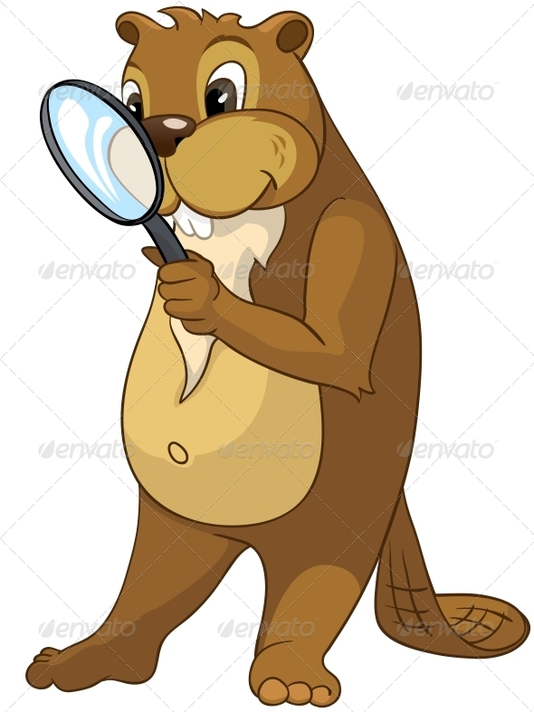 GraphicRiver Cartoon Character Beaver 4356836