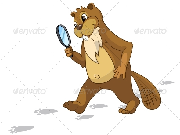 GraphicRiver Cartoon Character Beaver 4356837