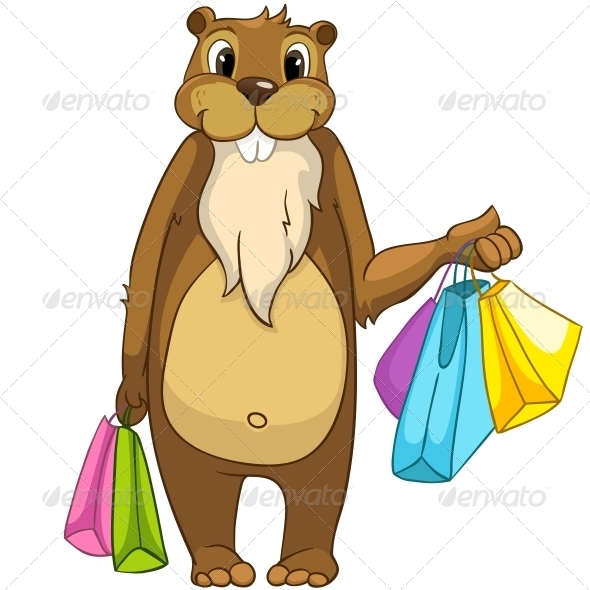 GraphicRiver Cartoon Character Beaver 4356839