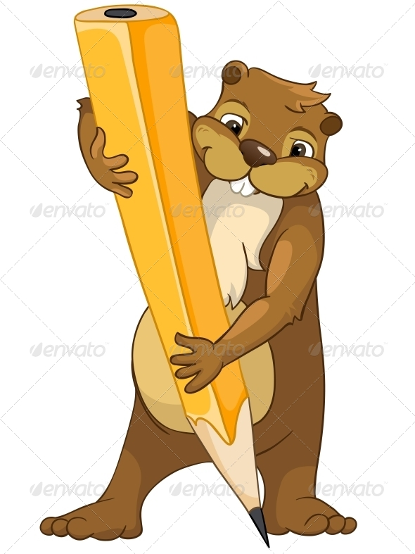 GraphicRiver Cartoon Character Beaver 4356843