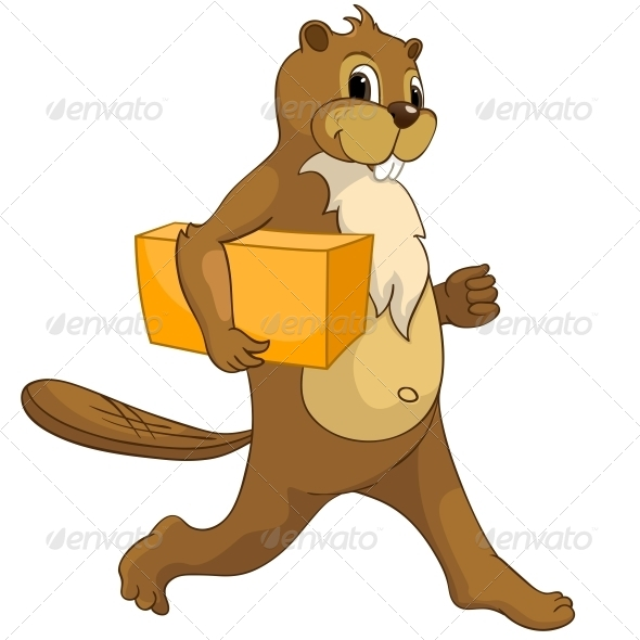 GraphicRiver Cartoon Character Beaver 4356866