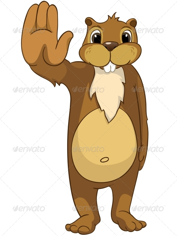 GraphicRiver Cartoon Character Beaver 4356871