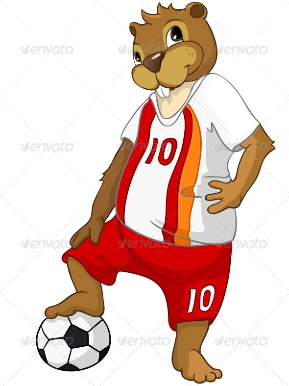 GraphicRiver Cartoon Character Beaver 4356872