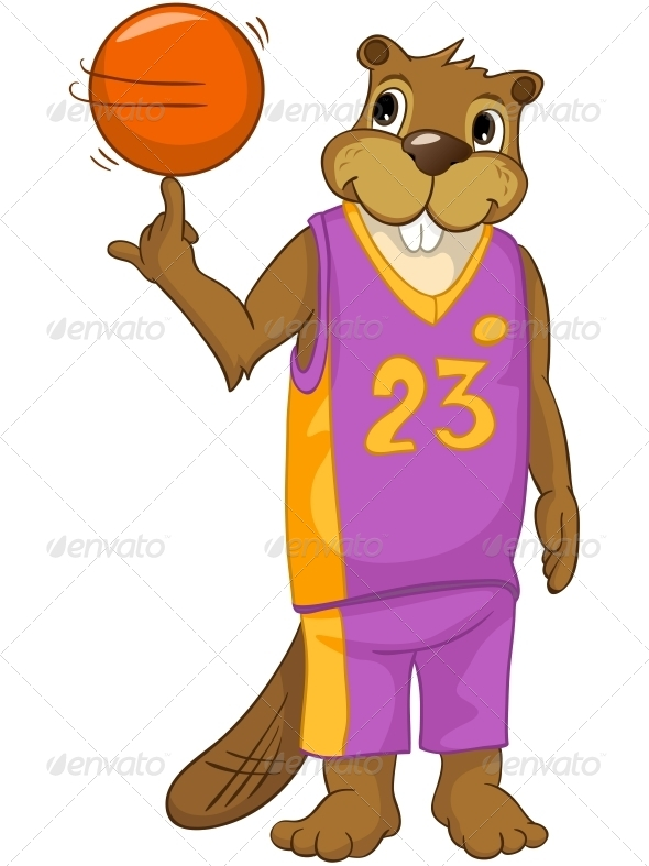 GraphicRiver Cartoon Character Beaver 4356873