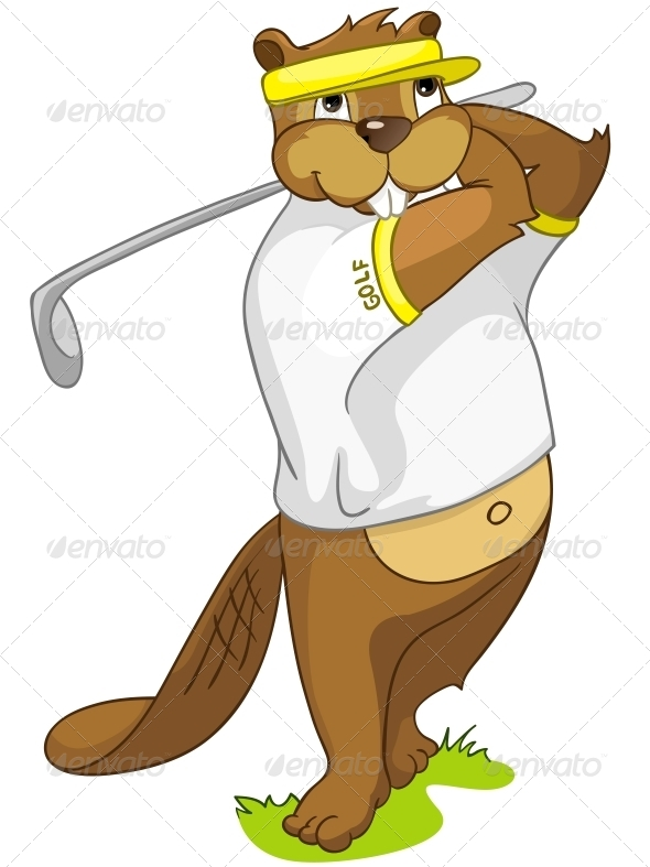 GraphicRiver Cartoon Character Beaver 4356875