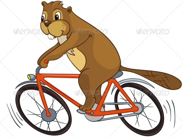 GraphicRiver Cartoon Character Beaver 4356882