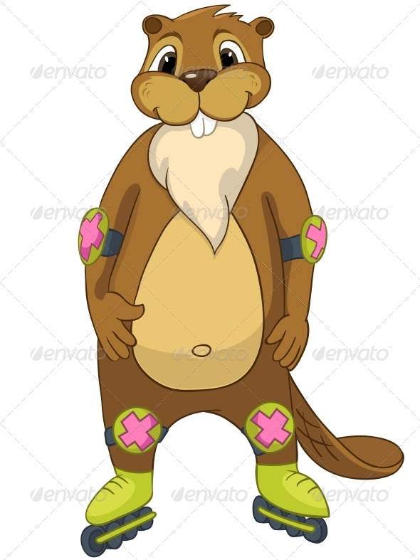 GraphicRiver Cartoon Character Beaver 4356883