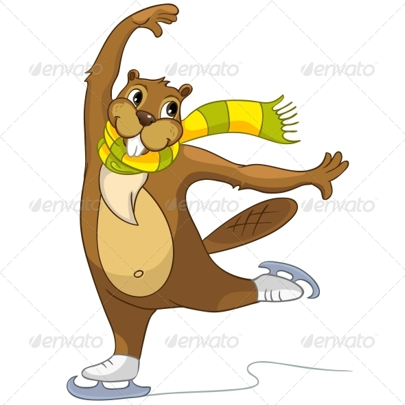 GraphicRiver Cartoon Character Beaver 4356884