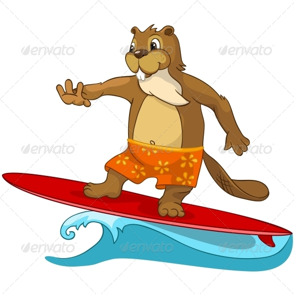 GraphicRiver Cartoon Character Beaver 4356891